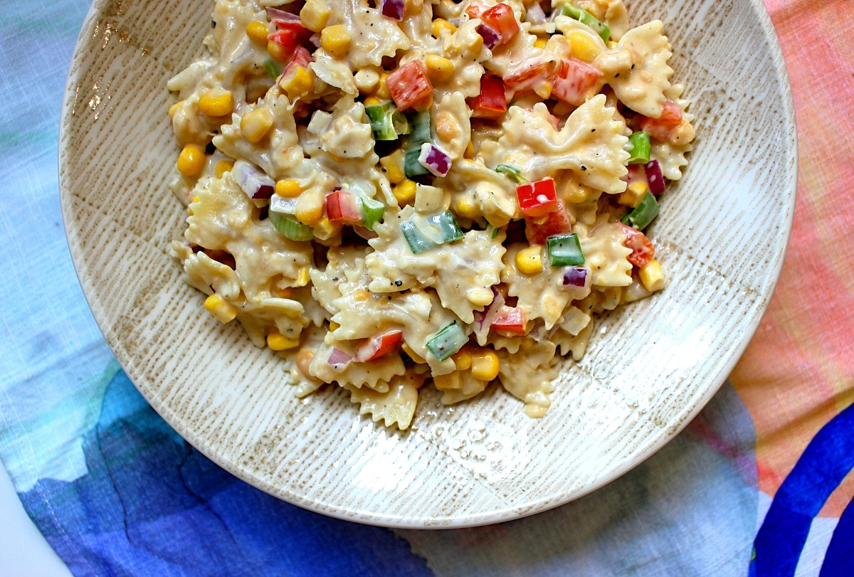 Chickpea 'Tuna' Mayo Pasta - Vegan Recipe!