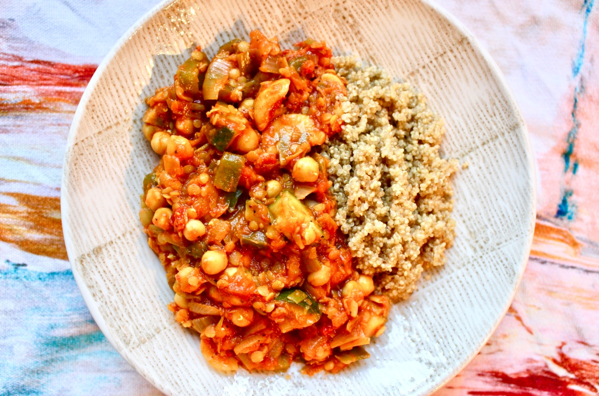 Chickpea, Lentil & Veggie Curry
